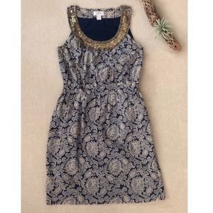 LOFT Beaded Floral Shift Dress sz 4